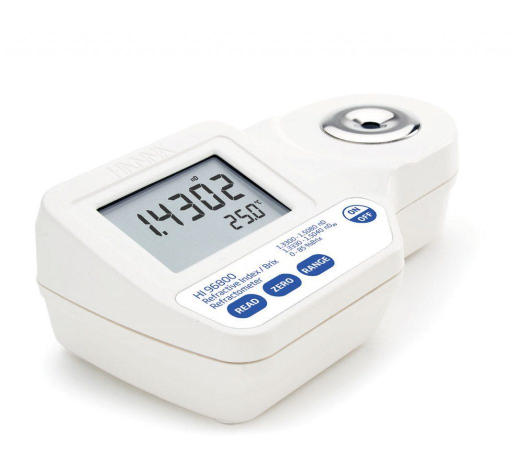 Refratômetro Digital para Índice Refrativo e Brix