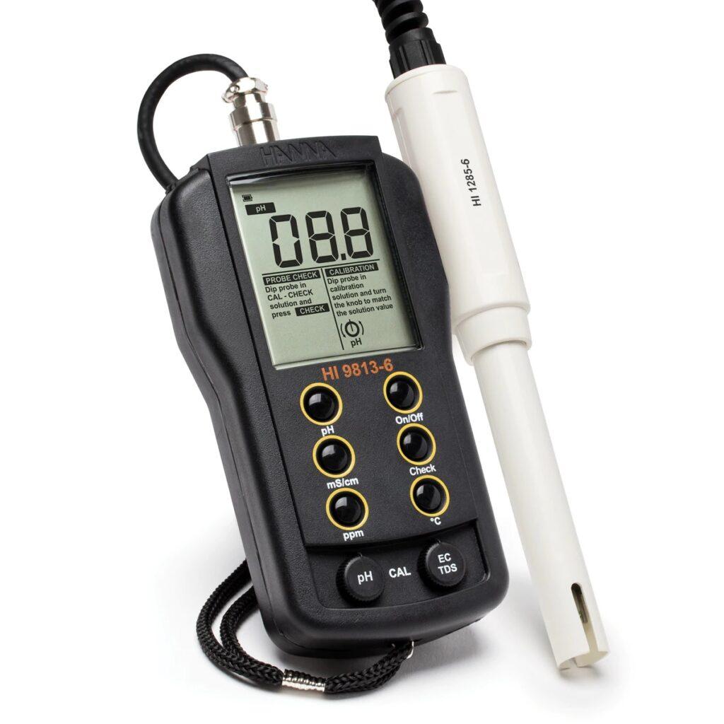 Medidor Portátil de pH/EC/TDS/Temperatura com CAL Check™